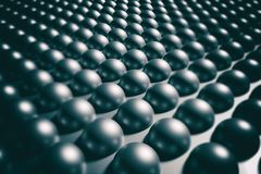 Background black balls. 3d rendering of an abstract composition of  lot of black balls Royalty Free Stock Photos