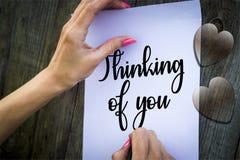 Thinking of you illustration foto vector illustration