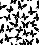 Background with black butterflies Stock Image