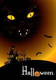 Background -- black cat Stock Photos
