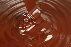 Background of black chocolate flow Stock Image