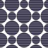 Background of black circles with slotted strips. Black circles of different sizes. Vector illustration Royalty Free Stock Image