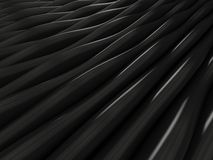 Background of black 3d abstract waves. Render Royalty Free Stock Photography