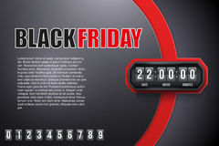 Background Black Friday and countdown timer Royalty Free Stock Photo