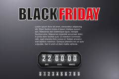 Background Black Friday and countdown timer Royalty Free Stock Images