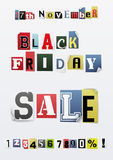 Background of Black friday sale Royalty Free Stock Photography