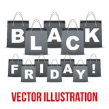 Background of Black Friday sales with letters in Stock Photo
