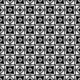 Black and white seamless repeated geometric art pattern  background. Background,black,,geometric,pattern,seamless,white,abstract,art, print ,textile ,vector file Stock Photos