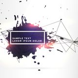 Background with black ink splatter and lines. Vector Stock Photography