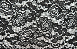 Background from black lace with pattern Royalty Free Stock Image