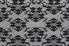 Background of black lace. Stock Images