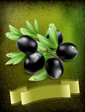 Background with black olives Royalty Free Stock Photo