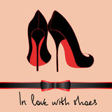 Background of black pair of shoes Royalty Free Stock Image