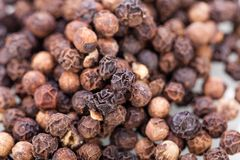 Background of black peppercorns Stock Photography