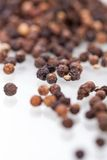 Background of black peppercorns Royalty Free Stock Photo
