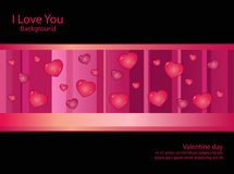 Background Black pink line Heart Royalty Free Stock Photos
