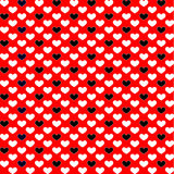 Background from black and red hearts. Stock Photo