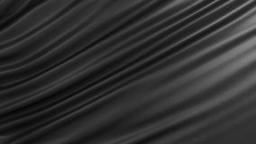 Background with black silk. Graphic illustration. 3D rendering. Graphic illustration with black fabric Royalty Free Stock Photos