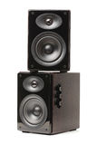 Background of black speaker Stock Photography