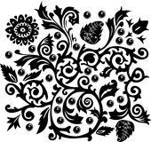 Background with black swirls Stock Images