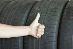 Background black tires Royalty Free Stock Photos
