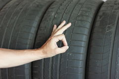 Background black tires Stock Photography