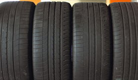 Background black tires Royalty Free Stock Image