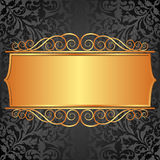 Background. Black background with vintage banner Stock Images