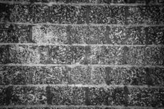 Background black and white bricks texture horizontally royalty free stock images
