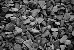 Background of black and white gravel rock. Royalty Free Stock Photo