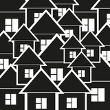 Background of black and white houses Stock Images