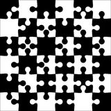 Background black and white jigsaw puzzle Royalty Free Stock Photos