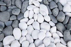 Background of black and white pebbles Royalty Free Stock Image
