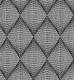 Background from black-and-white rhombs Royalty Free Stock Photo