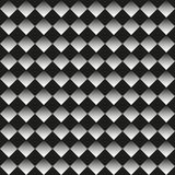 Background of black and white rhombuses. Seamless neutral background black and white rhombuses, chessboard. Abstract geometric pattern, vector illustration Stock Photos