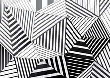 Background of black and white striped triangles for graphic design Royalty Free Stock Photos