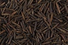 Background of black wild rice Stock Photo