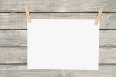 Background. Blank board brand business card clip Stock Image