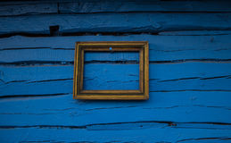 Background blank frame on old wooden wall. Background. Background blank frame on old wooden wall Royalty Free Stock Photography
