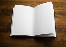 Blank notebook on a grey background Royalty Free Stock Images