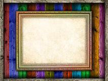 Blank paper sheet in picture frame Royalty Free Stock Photo