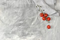 Background with a blank space for text and a branch of cherry to Stock Photo