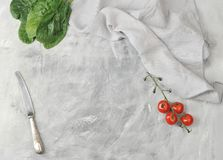 Background with a blank space for text and a branch of cherry to Stock Photography