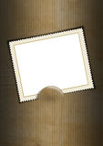 Background with Blank Stamp. Black and brown business background with stamp Stock Photography