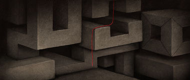 Background with blocks Royalty Free Stock Photo
