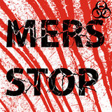 Background bloody wall Stop Mers Corona Virus sign.  Vector Illu. Stration Royalty Free Stock Images