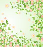 Background with blooming tree Royalty Free Stock Photo