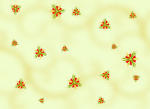 Background with Blossom Motives Royalty Free Stock Images