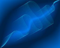 Background of blue abstract wave lines. Illustration Stock Photos