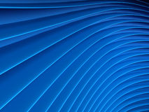 Background of blue abstract waves. render. Background of blue 3d abstract waves. render Stock Image